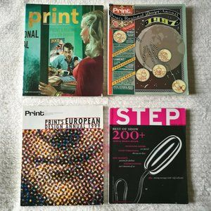 Lot Of 4 Graphic Art Magazines Pre-owned